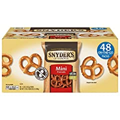 MINI PRETZELS: Crunchy pretzels offer all the delicious flavor of traditional pretzels in a crunchy, bite size snack INDIVIDUAL PACKS OF PRETZELS: Single serve bags are perfect for stocking up your office, school, or pantry SCHOOL SNACK: Our pretzels...
