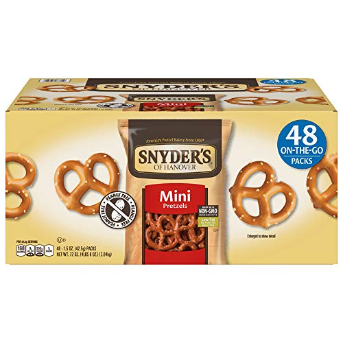 Snyder#039s of Hanover Mini Pretzels Individual Packs 15 Ounce 48 Count