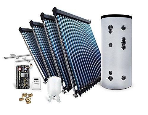 Solar-Paket Röhrenkollektor HP30 für Schrägdach mit Hygienespeicher 1000 L, 19,56 m²