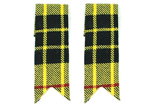 Homme Chaussettes de kilt flashs avec porte-jarretelles, motif Tartan, pointues, Highland - - L
