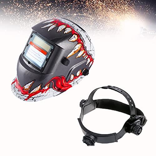 CSYHJRS Casco de Soldadura eléctrica con Cortinas Ajustables, máscaras de Soldadura con oscurecimiento automático, protección Facial para soldar, para MMA, MIG/mag, Wig/TIG