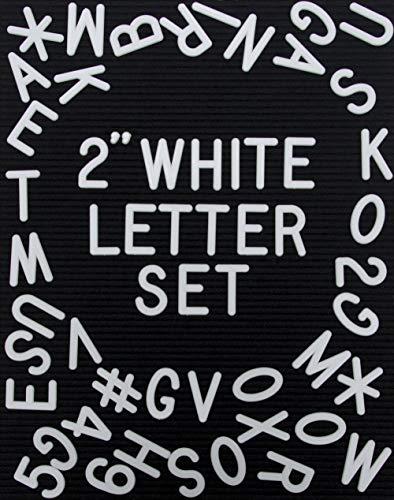 "Set of 326, 2"" (Inch) Plastic Letterboard Letters for Changeable Felt Letter Boards, Message Board Letters, Letter Board Accessories, Letter Board Letters Only, Letter Board Letters For Letter Boards"