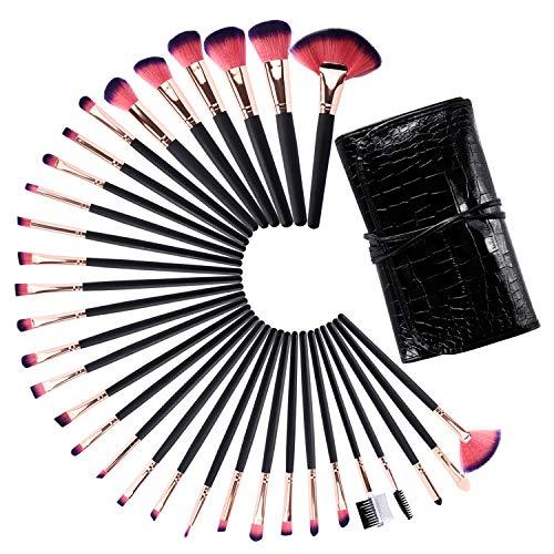 semen Lot de 32 Pinceaux Maquillage Professionnel Cosmétique Brush Beauté Makeup avec Sac pratique (Taille Unique, Lot de 32)