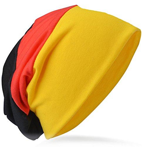 Jersey Slouch Beanie Long Mütze Unisex Unifarbe Herren Damen Trend (One Size, deutsch)