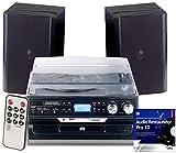 auvisio Kassettenspieler: 5in1-Plattenspieler mit Bluetooth und Digitalisier-Funktion, 40 Watt (Schallplatten digitalisieren)