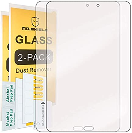 [2-Pack]-Mr.Shield for Samsung Galaxy Tab E 8.0 [Tempered Glass] Screen Protector [0.3mm Ultra Thin 9H Hardness 2.5D Round Edge] with Lifetime Replacement