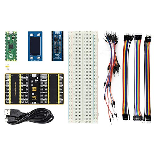 Coolwell Waveshare Raspberry Pi Pico Evaluation Kit Package B Include The Pico + Color LCD + IMU Sensor + GPIO Expander