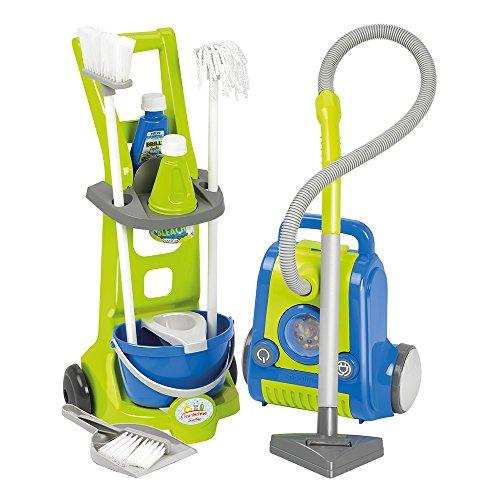 Set de limpieza con carrito, aspirador y accesorios (Ecoiffi