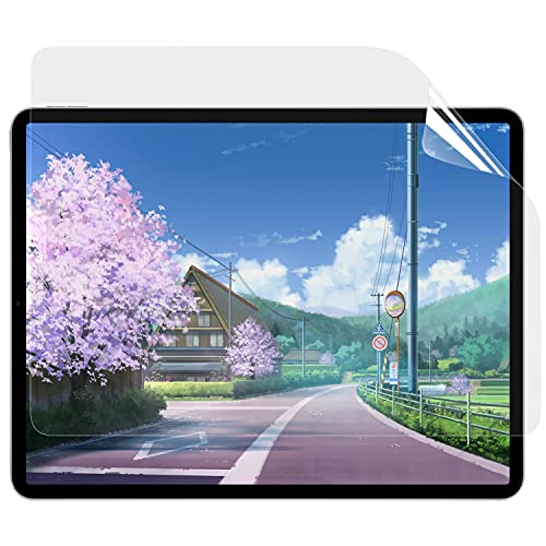 【Amazon限定ブランド】 ペーパーライク フィルム iPad Pro 12.9 (2021 第5世代 / 2020 第4世代 / 2018 第3世代)用 保護フィルム アンチグレア 反射低減 貼り付け失敗無料交換