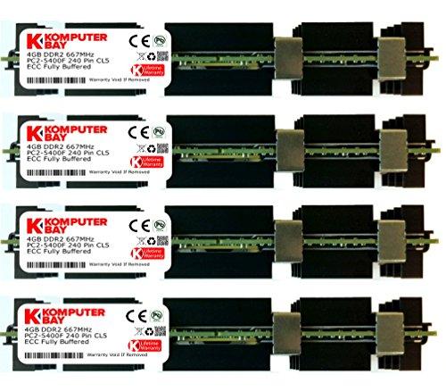Komputerbay 16GB (4X 4GB) DDR2 PC2-5300F 667MHz CL5 ECC Fully Buffered FB-DIMM (240 PIN) 16 GB w/Heatspreaders for Apple Computers