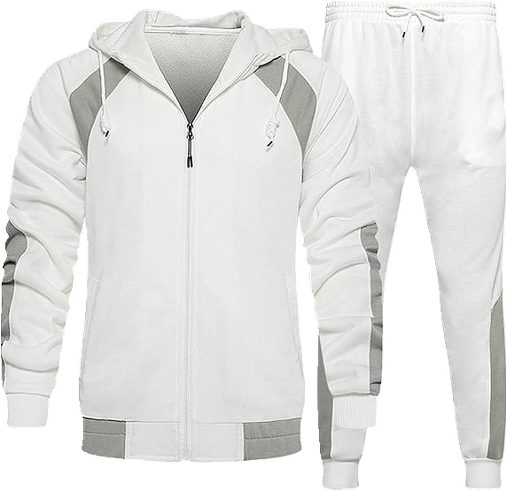 Tracksuit Sets Men Pieces Wholesale Set Sportswear Sweatpants Hoodi High material Zipper