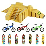 Evolving Minds Fingerboard Skatepark – Fingerboard Ramps for Finger Skateboard – Includes 7 Skateboards and 3 Bikes – Multiple Assembly Models – Educational and Fun