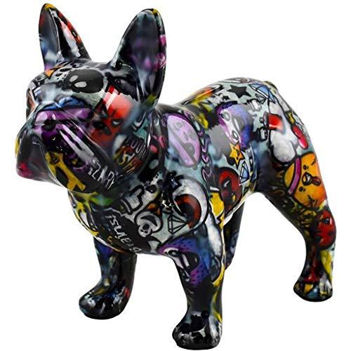 Pomme Pidou   Spardose Keramik   Französische Bulldogge Jack   Medium   Bunt   Keramik Spardose mit Münzschlitz & sehr schönes Dekorationsstück   inkl. GRATIS Geschenkbox