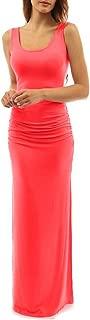 Women's Casual Summer Long Dress Slit Sexy Maxi Dress Tank Dress