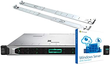 HP ProLiant DL360 Gen10 Server Bundle with Windows Server 2016, 2 x Intel Silver 4110 8 Core CPUs, 64GB RAM, 7.68TB Enterprise SSD Drives, RAID, Rail Kit