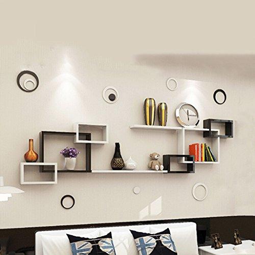 DWW-Étagère Grilles de luxe bricolage cloisons de combinaison gratuit poinçonnage décoration murale étagères rangement à la maison