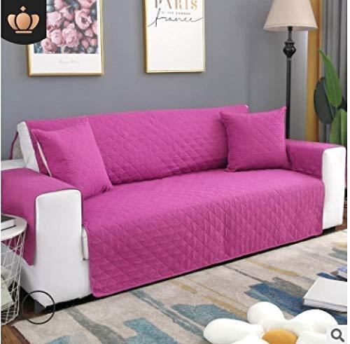 CC.Stars Fundas Decorativas para Sofas Antideslizante,Funda de sofá para Sala de Estar, Funda Protectora de sofá, sillón sofá CamaFundas reclinables-Rose Red_1 Asiento (55x196cm) _