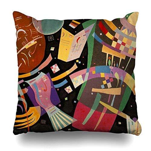GFGKKGJFD Kissenbezüge 50,8 x 50,8 cm Kandinsky abstrakte Komposition Wurfkissenbezüge für Schlafzimmer, Haushaltsgeschenke, Geburtstag, für Mama, für Teenager, Mädchen