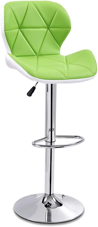 Aidriney- Bar Chair Lift Chair Home redating Bar Chair High Stool Front Desk Chair Backrest Stool (color   B)