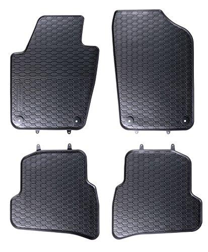 AME - Auto-Gummimatten in schwarz und Wabendesign, Geruch-vermindert und passgenau mit verbauten Befestigungen 842/4C