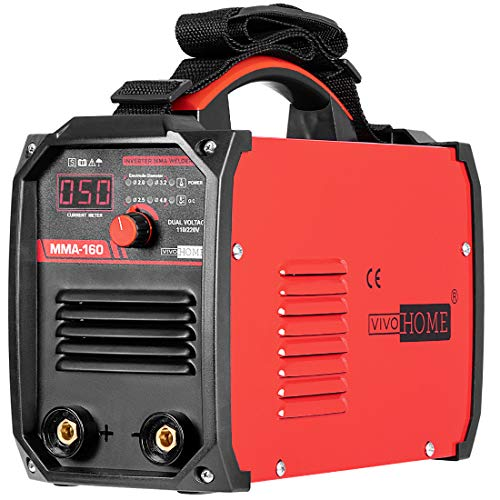 VIVOHOME Portable DC Inverter MMA Arc Welding Machine 160 AMP Dual Voltage 110V/220V ETL Listed