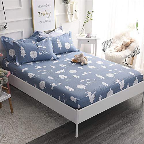 HPPSLT Protector de colchón/Cubre colchón Acolchado, Ajustable y antiácaros. Sábana de algodón Antideslizante de una Sola Pieza-9_1.0 * 2m