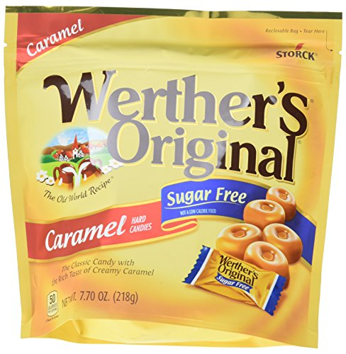 WERTHER#039S ORIGINAL Sugar Free Caramel Hard Candy Individually Wrapped Candy 77 Ounce Bag