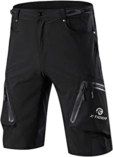 X-TIGER Men's Bicycle Shorts,Lightweight and Baggy No Padded Mountain Bike Shorts for Cycling Running Gym Training Shorts ...