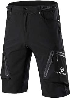 X-TIGER Pantalones Cortos de Ciclo Holgados de Hombres, Transpirables Sueltos, para MTB de los Deportes al Aire Libre