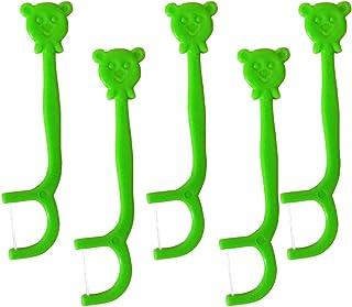 SUPVOX 100PCS Kid's Dental Floss Picks Holder Wire Floss Replacement Rack