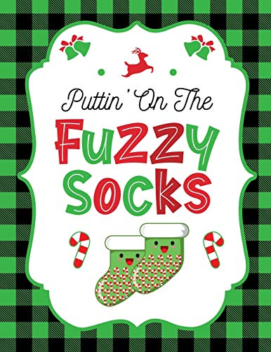 Puttin' On The Fuzzy Socks: Green Buffalo Plaid Christmas Planner Gift: | Holiday Theme | Gift Under 10 | Stocking Stuffer | Christmas Eve | Christmas ... Elf Antics | Menu Planning | Keepsake Memory