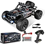 BEZGAR HB101 1:10 Scale Beginner RC Truck, 4WD High Speed 48km/h All Terrains RC Car Off Road Waterproof RC Buggy Toys for Boys Kids and Adults