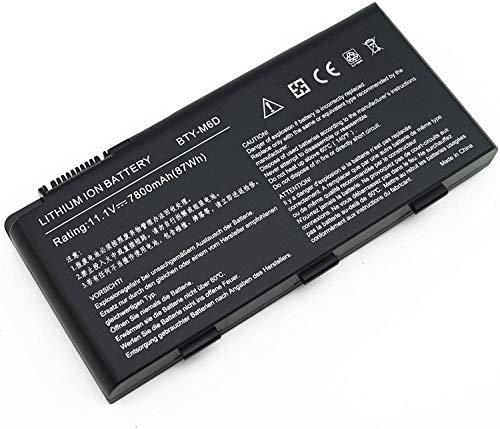 K KYUER 7800mAh BTY-M6D Batería para MSI GT60 GT70 2PE-890US GX60 1AC GX70 3BE WS60 MS-16F2 16F4 E6603 GX660 GX680 GT780 GT780R GT600 GT660 GT680 GT683 GT685 GT670 GT760 GT770 GT783 GX780 Battery