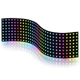 BTF-LIGHTING 0.24ft0.96ft Pixel 256 Pixels WS2812B Digital Flexible LED Panel Individually addressable Full Dream color lighting DC5V
