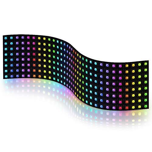 BTF-LIGHTING 0.24ft0.96ft Pixel 256 Pixels WS2812B Digital Flexible LED Panel Individually addressable Full Dream color lighting DC5V