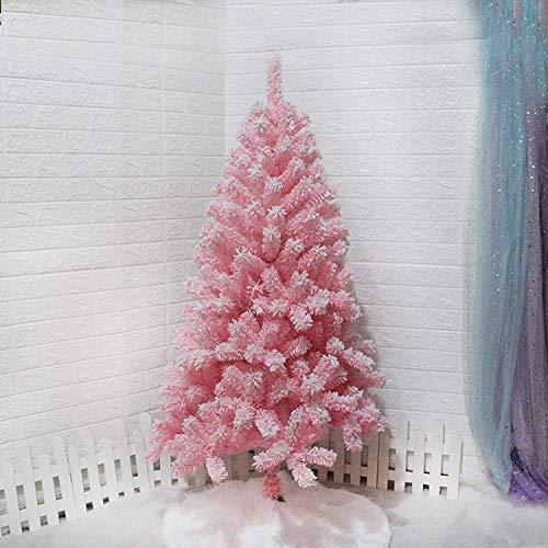 Topashe Albero di Natale Pino Ecologico e Ignifugo,Albero di Natale Rosa, Floccato Decorazione Creativa albero-3m,Super Folto Albero di Natale