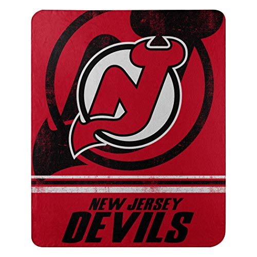 """The Northwest Company NHL New Jersey Devils """"Fade Away"""" Fleece Throw Blanket, 50"""" x 60"""" , Red"""