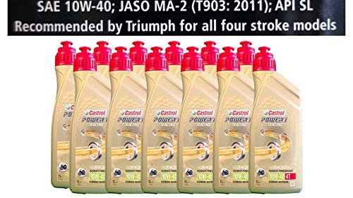 Castrol Power 1 Racing 4T 10W-40 motorolie 12x1 liter Specificaties API SJ JASO MA2