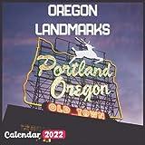 Oregon Landmarks Calendar 2022: Official Oregon Calendar 2022, 18 Month Photo of Oregon Travel calendar 2022, Mini Calendar