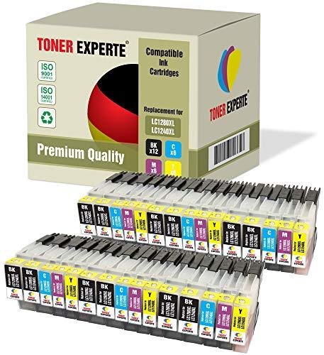 Pack de 30 XL TONER EXPERTE® Compatibles LC-1280XL LC-1240XL Cartuchos de Tinta para Brother MFC-J6510DW MFC-J430W MFC-J6910DW MFC-J5910DW MFC-J825DW MFC-J625DW DCP-J525W DCP-J725DW DCP-J925DW