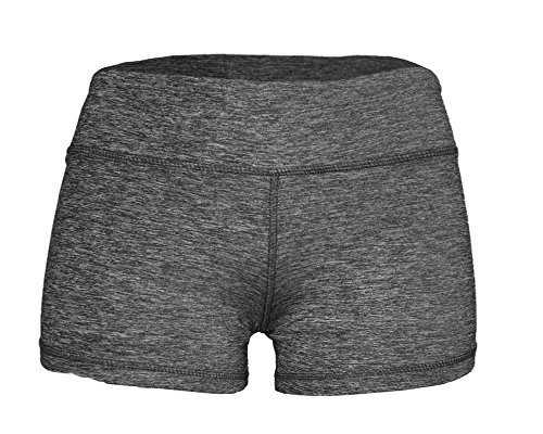 "Epic MMA Gear Spandex Yoga Booty Shorts, 3"" Inseam (Large, Black Heather)"