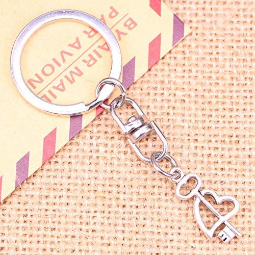 LEILIANG Llavero De Moda 23X12 Mm Clave Colgante De Corazón Cruzado para Hombres Llavero De Coche Titular De Anillo Regalo De Recuerdo