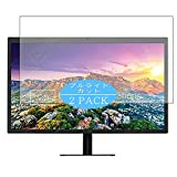 """[2 Pack] Synvy Anti Blue Light Screen Protector, Compatible with LG UltraFine 5K 27MD5KL 27"""" Display Monitor TPU Film Protectors [Not Tempered Glass]"""
