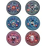 Hemoton 6PCS Fiesta de Halloween Manteles Individuales Manteles Antideslizantes Aislantes térmicos Alfombrillas de Mesa Redondas Decorativas Suaves Vajilla Decorativa Coaster (Patrón Aleatorio)