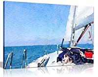 航海ヨット絵画キャンバスウォールアート写真プリント 61x41 cm (24x16in) 5060694367068