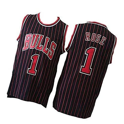 Camiseta de baloncesto retro CHI, chaleco deportivo rosa para hombre, Swingman #1 negro