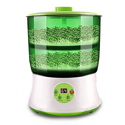 Máquina de semillas de soja, máquina de cultivo de semillas multifuncional, termostato inteligente, dispositivo de germinación automático, gran brotes con indicador LED
