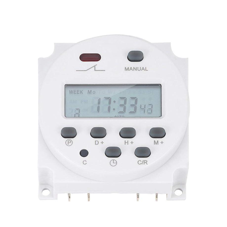 どこでも提供するあなたのものSaikogoods プロフェッショナルLCDタイマー 電子のデジタルパワー プログラマブルタイマ 16Aの4.4VA 時間リレーは EN60730-1スイッチ 白