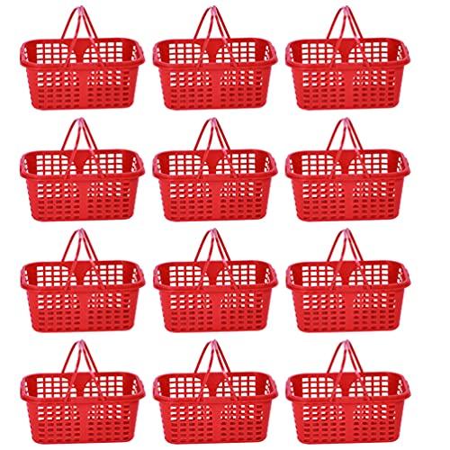 Angoily 20 Piezas Pequeñas Cestas de Plástico con Asas Y Agujeros Mini...