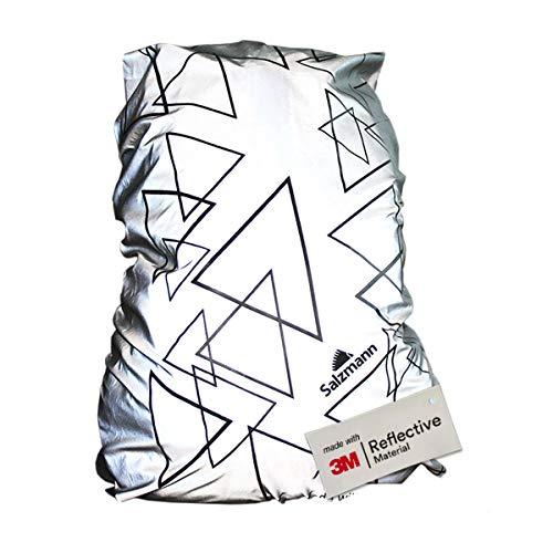Salzmann 3M Rucksacküberzug, ausgestattet mit 3M Reflektierendem Material, wasserdichter Rucksacküberzug, Regenschutz, Rucksack-Schutzhülle | Standard (bis 36 Liter)